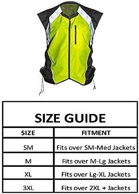 Fits Over Jacket Hi Vis Reflective Motorcycle Safety Vest M: Fits over Med-Lg Jackets, Bold Orange Pocket Zip Front