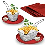 Mini Chef Foldable Fry Basket Steam Rinse Strain French Fries mesh Colander Strainer Net Kitchen Gadgets Cooking Tools Kangsanli