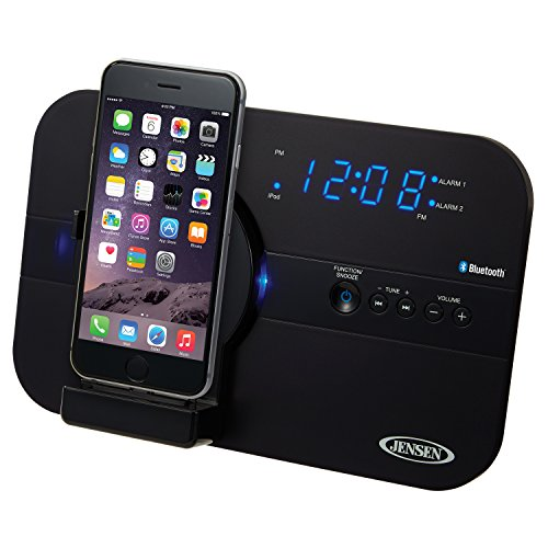 Jensen JiLS-525iB Bluetooth Docking Digital Music System for Lightning Connector Devices (Digital Ipod Docking Music System)