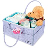 Baby Diaper Caddy Organizer : Portable Car Travel Bag...