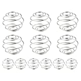 Lee-buty 12 Pcs Stainless Steel Mixing Ball Milkshake Blender Balls Wire Mixer Protein Mixer Shaker Bottle Cup Wire Whisk