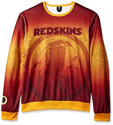 Forever Collectibles Herren bedruckt Farbverlauf Crew Neck Sweater, Washington Redskins, groß