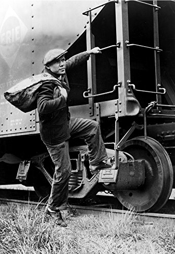 Hobo Hopping Freight Train 1935 Poster Print by Science Source (24 x 36)