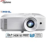 Optoma 3400 Lumens 1080p Home Theater Projector -White (HD27HDR) -