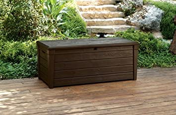 Exceptional GARDEN STORAGE BENCH BOX LARGE 454L KETER RESIN FURNITURE LOCKABLE  WATERPROOF