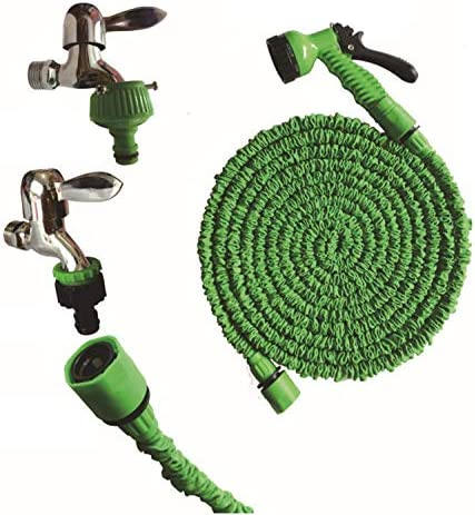 SLRMKK Garden Hose,Expanding Garden Water Hose Pipe with 7 Function Nozzle, 3 Times Expandable Watering Hose.