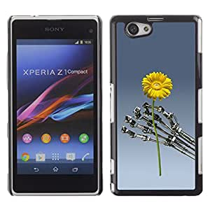 For Sony Xperia Z1 Compact / Z1 Mini / D5503 Case , Flower Sci-Fi Robot Machine Futuristic - Diseño Patrón Teléfono Caso Cubierta Case Bumper Duro Protección Case Cover Funda