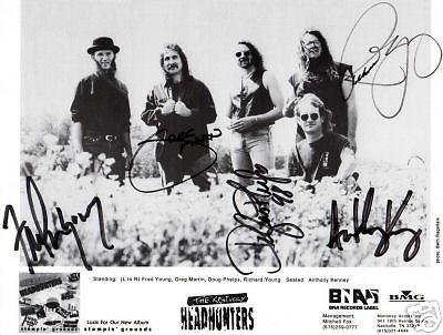 Kentucky Headhunters Autographed 8x10 photo - COA