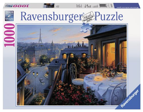 Ravensburger Paris Balcony 1000 Piece Jigsaw Puzzle for Adults - Every piece is unique, Softclick technology Means Pieces Fit Together Perfectly