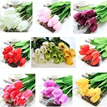 10 Bouquet Artificial Tulip Silk Flowers Home Party Decor