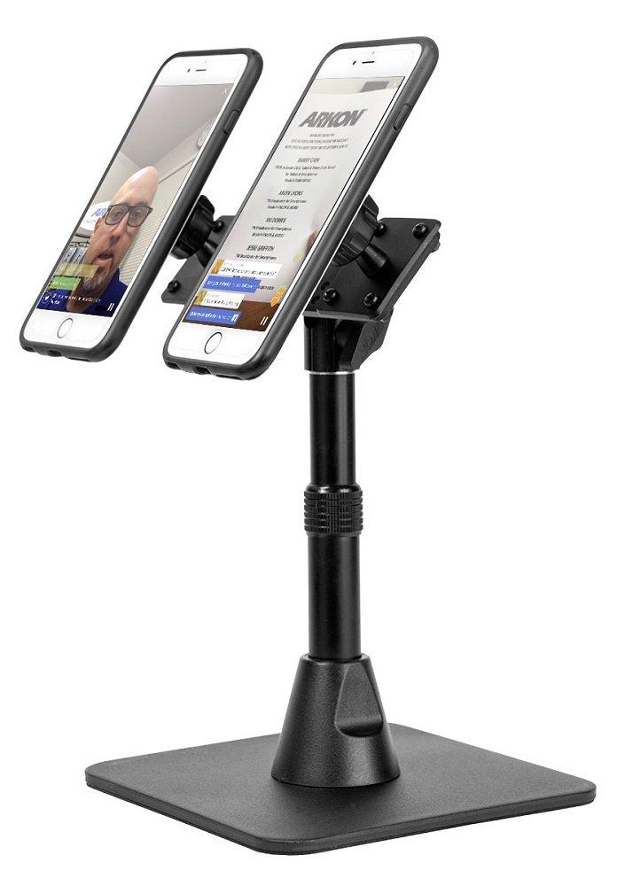 Arkon TW Broadcaster Pro Dual Phone Magnetic Mount Desk Stand Black by ARKON