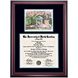 UNC Chapel Hill Tar Heels Diploma Frame Black Carolina Blue Matting Watercolor