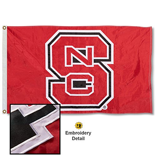 North Carolina State Wolfpack Embroidered and Stitched Nylon Flag