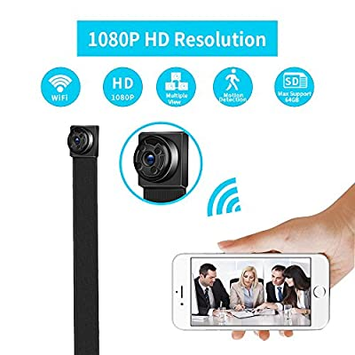 Mini Hidden Spy Camera,WiFi Camera Body Camera Night Vision Motion Detection 1080P HD Security Monitoring Nanny Cam For Baby Home, 170 Degree Wide View Angl from CoraCooper