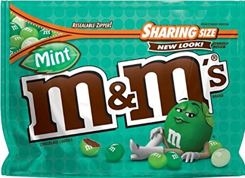 M&M'S Mint Dark Chocolate Candy Sharing Size 9.6-Ounce Bag