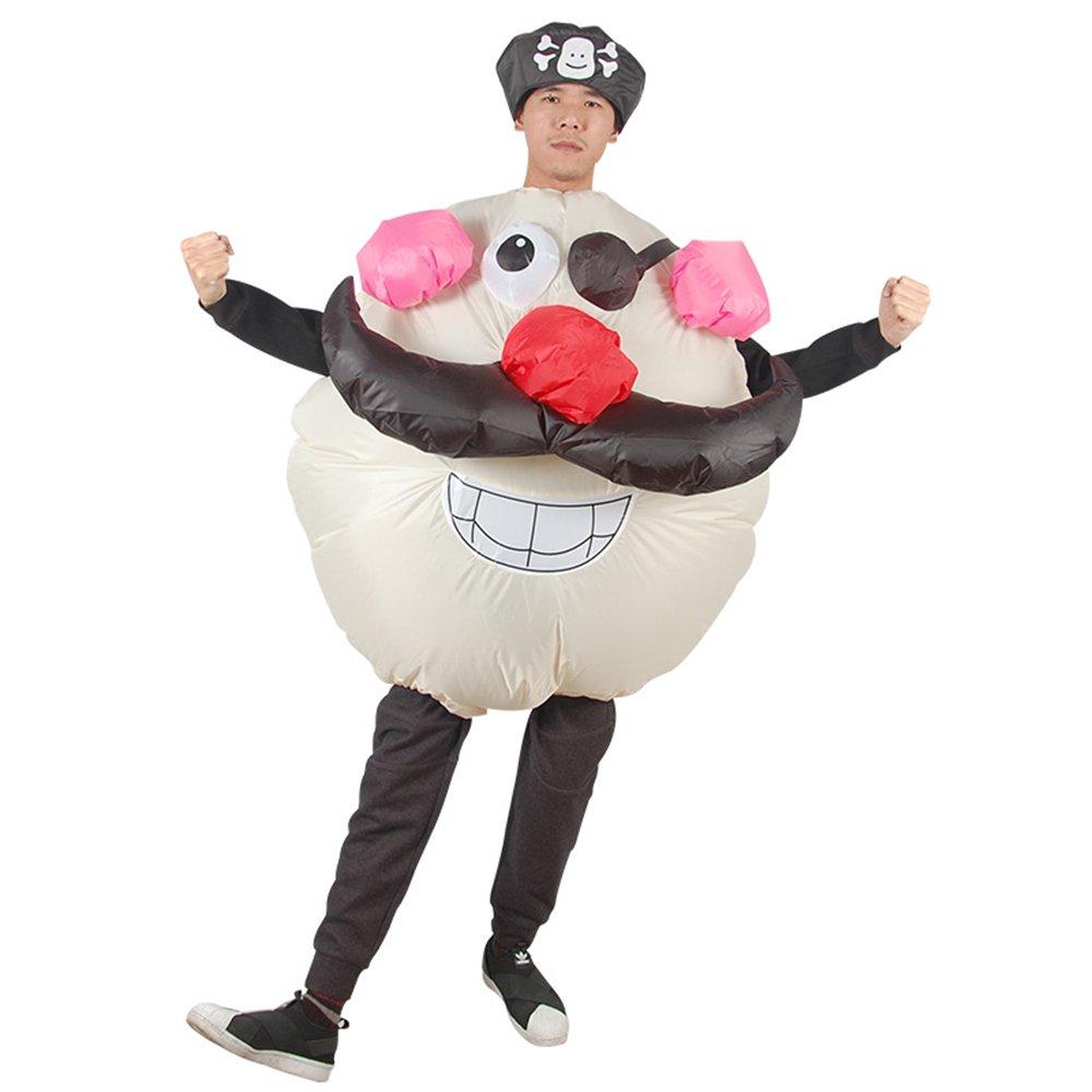 Amazon.com: Disfraz de monstruo hinchable con jack pirata ...