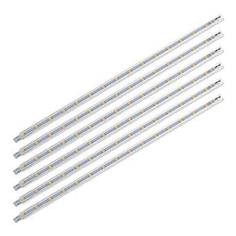 SEBSON® 6x LED bajo mueble 30cm, tira de iluminación, Calido Blanca, 2W, 125lm