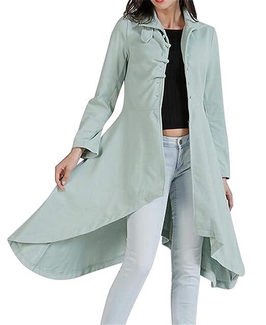 a0639817 Amazon.com: Jofemuho Women Button Up Warm Regular Fit Wool ...