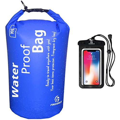 Freegrace Waterproof Dry Bag - Lightweight Dry Sack with Seals and Waterproof Case -Float on Water -Keeps Gear Dry for Kayaking, Beach, Rafting, Boating, Hiking, Camping and Fishing (2L, Navy Blue) (Best Deals At Kroger)
