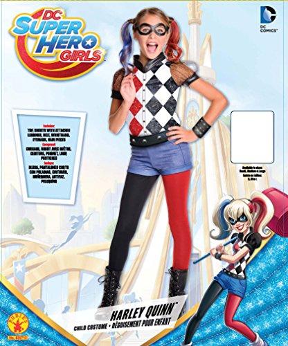 Rubie's Costume Kids DC Superhero Girls Deluxe Harley Quinn Costume, Small - stylishcombatboots.com