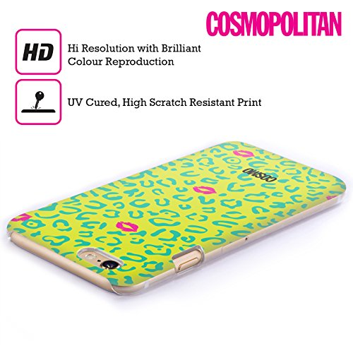 Official Cosmopolitan Yellow Green Sassy Leopard Hard Back Case for Apple iPhone 4 / 4S