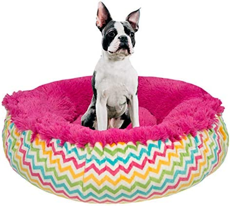 Amazon Com Bessie And Barnie Ocean Wave Lollipop Luxury Shag Ultra Plush Faux Fur Bagelette Pet Dog Bed Multiple Sizes S 30 Pet Supplies