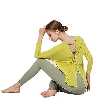 SIMYJOY Mujeres Color Sólido Camisa de Yoga Sin Respaldo ...