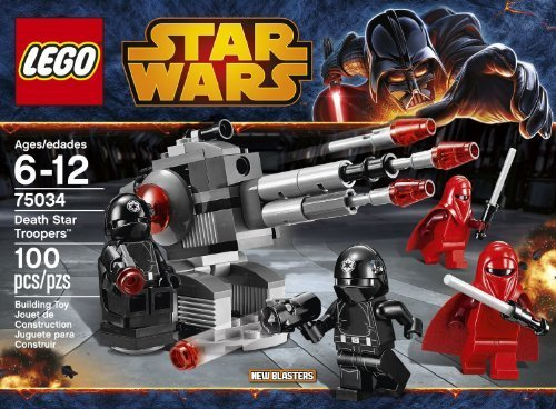 LEGO Star Wars 75034 Death Star Troopers 100 pieces Includes 4 Minifigures With Weapons: 2 Imperial Royal Guards And 2 Death Star Gunners Order Now! With E-book Gift@ ()
