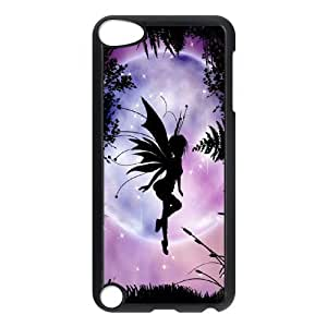 Diy Lovely Fairy Phone Case for ipod touch 5 Black Shell Phone JFLIFE(TM) [Pattern-1]