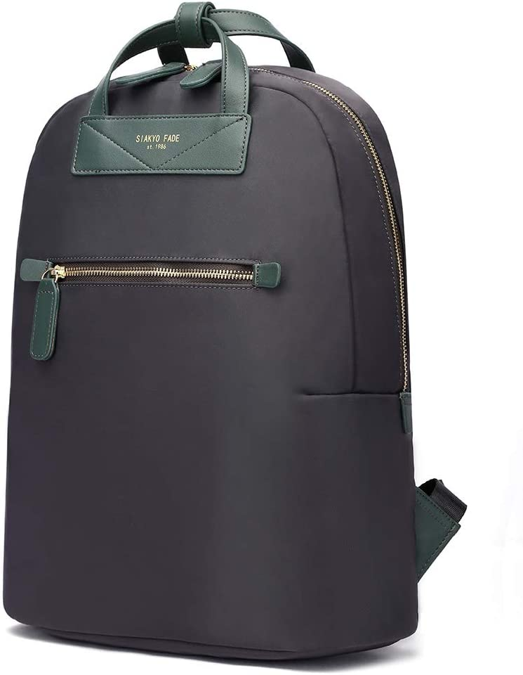 HaloVa Backpack, Travel SHoulders Bag, Unisex Anti-theft Laptop Bag for Men Women, Fits for 13-14 Inches Laptop, Dark Green