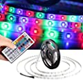 Led String Lights, HOOHI 5-Meter 300 LEDs Waterproof Flexible Color Changing RGB Colored Led Strip Lights Kits Rope Lights with 44 Key Remote Control and 12V 5A Power Supply for Christmas Wedding and Party Suitable for Indoor and Outdoor Decoration