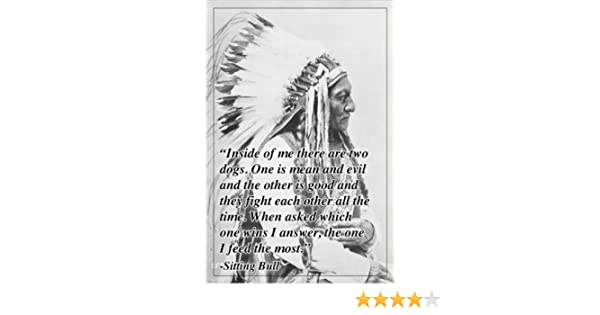 inspirational quote poster SITTING BULL INDIAN CHIEF headdress 24X36 UNIQUE