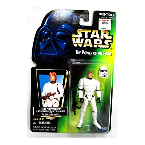 Star Wars Luke in Stormtrooper Disguise Green Card Action Figure from Star Wars