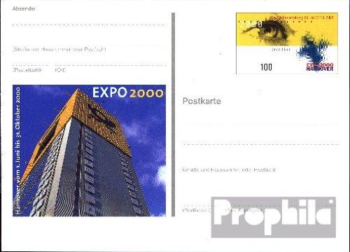- BRD (BR.Deutschland) PSo69 Amtliche Sonderpostkarte 2000 EXPO Hannover (Belege Ganzsachen for collectors)