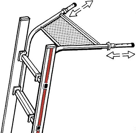 HYMER 0051248 Wandabstandshalter teleskopierbar f/ür Sprossenleitern mit Sprossenma/ß 30x30 mm