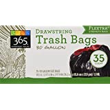 365 Everyday Value Drawstring Trash Bags Flextra 30 gallon
