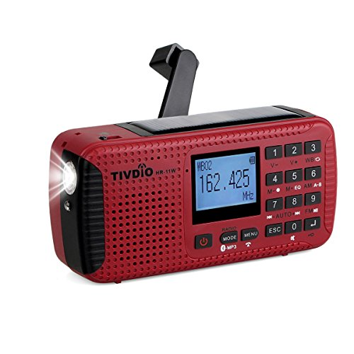 Tivdio HR11W AM FM Portable Radio Rechargeable Wind Up Radios Dynamo Radio...
