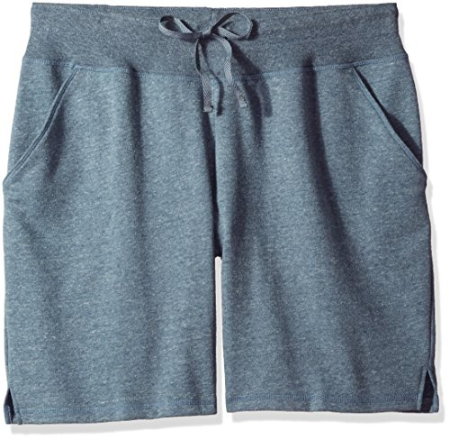 Fit for Me by Fruit of the Loom Women's Plus Size Bermuda Short, Silver Cross Dye Heather, 5X