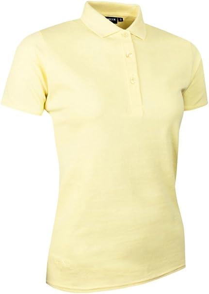Glenmuir - Polo piqué de algodón para mujer, Mujer, color amarillo ...