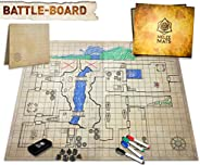 The Original Battle Grid Game Board - 23x27 - Dungeons and Dragons Set - Dry Erase Square & Hex RPG Miniat