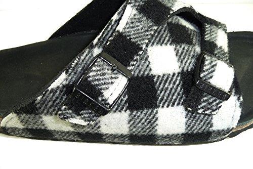 Birkenstock - Sandalias de vestir de Piel para mujer Black/White