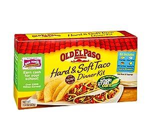 Amazon.com : Old El Paso Hard and Soft Taco Dinner Kit, 11 ...