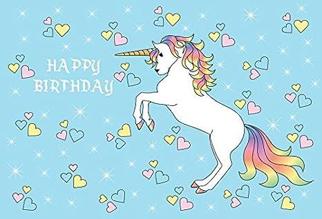 Yeele 9 x 6 pies lindo unicornio de fondo fiesta de ...