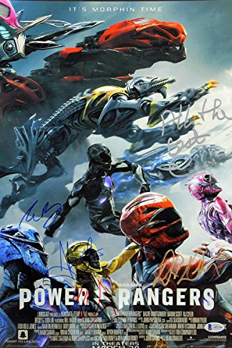 Power Rangers 5 Banks, Saban +3 Autographed Signed 12X18 Mini Movie Poster Bas #A85196