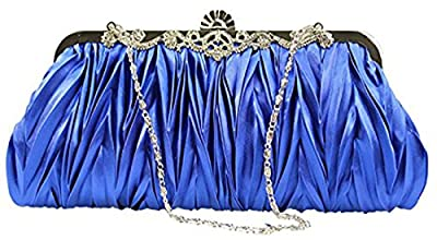 Iblue Womens Satin Evening Clutch Wedding Party Purse Cocktail Handbags#C15