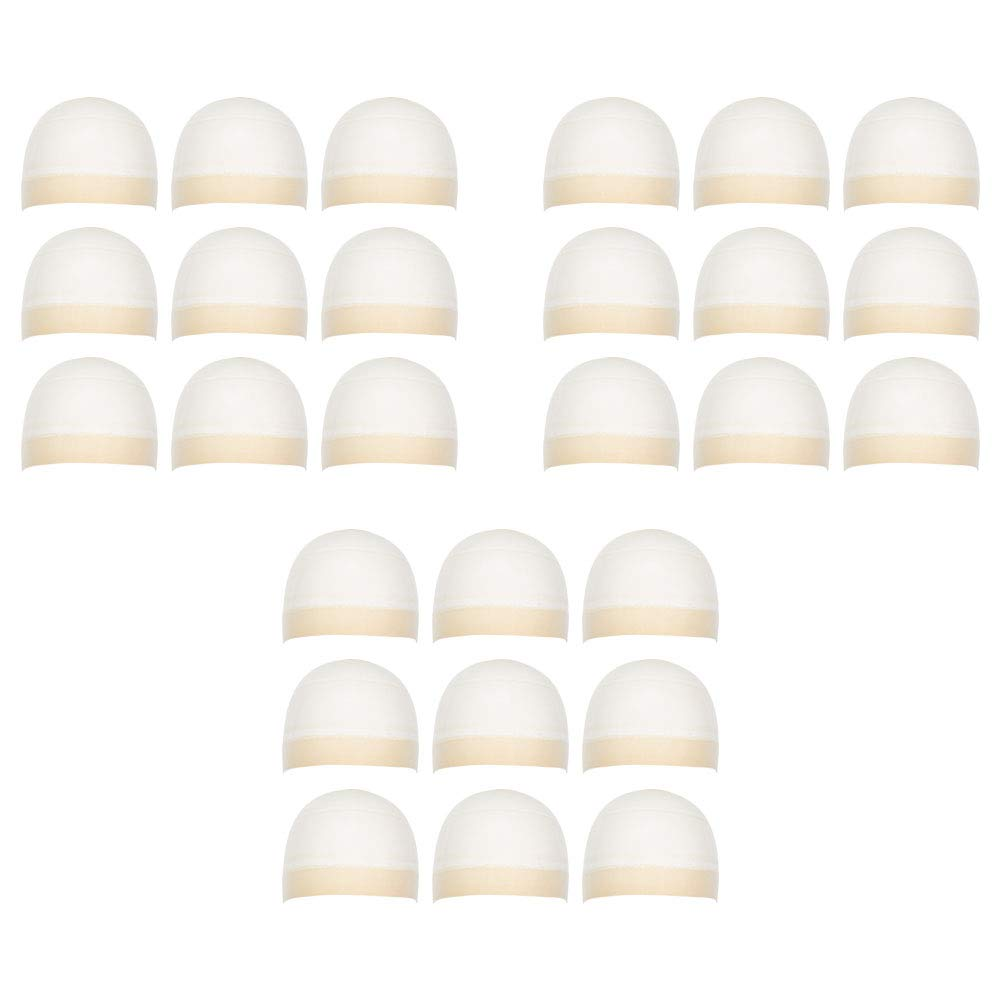 Milano Collection Premium 27 Count Value Pack Nylon Wig Cap Stockings for Wigs and Frontals- Nude by MILANO COLLECTION