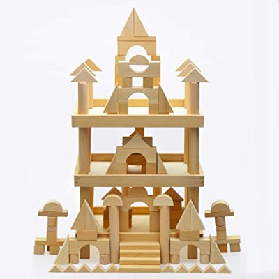 KOIUJ Wooden Castle Building Blocks Set,Spark Your Child's Imagination & Develop Essential Skills, Educational, Durable & Safe Construction Blocks, Great Gift: Baby