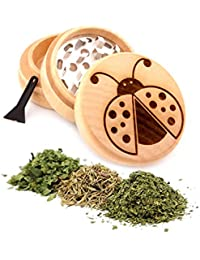 Investment Ladybug Engraved Premium Natural Wooden Grinder Item # PW91316-3 dispense