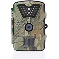 Vingtank HD Waterproof IP66 Game & Trail Camera 1080P FHD 12MP Waterproof Wildlife Cameras 90° Detect Angle/Infrared Night Vision 42pcs IR LEDs/Motion Activated/0.5s Trigger Speed Surveillance Camera
