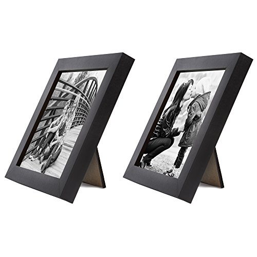 Set of Two Tabletop Frames Made to Display Pictures Sized 4x4 – Perfect for a Pair of Photos (Photo Frame For Office Desk)